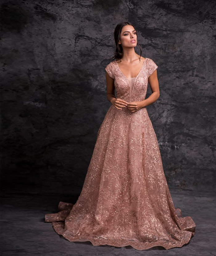 Vestido de palo rosa